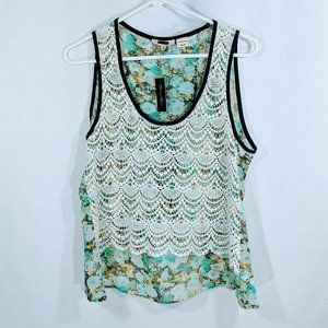 Miss Me Boho Crochet Sleeveless Blouse